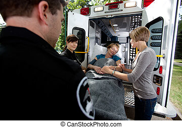 Senior Woman in Ambulance