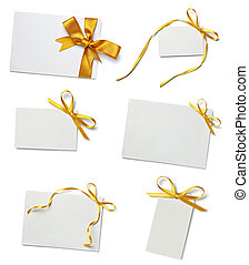 greeting card with ribbon note - collection of various card...