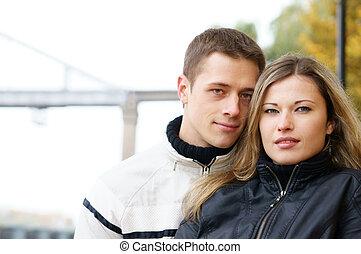 cute couple portrait