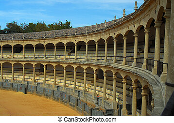 The bull arena of Ronda, Spain