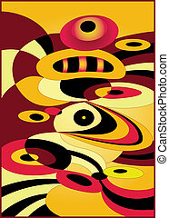 Yellow and red stones abstract - Abstract vector...