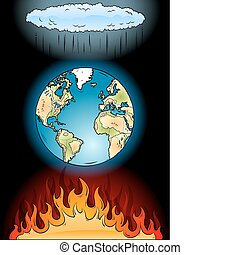 global warming on the black
