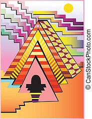 Abstract pyramid - Illustration of Abstract pyramid. High...