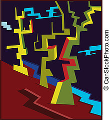 Abstract tree like shapes - Illustration of Abstract tree...