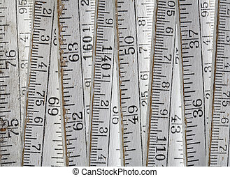Old folding carpenter's ruler