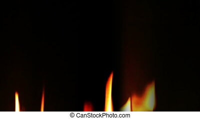 Real fire slow motion loop - Real fire not fractal noise 3...