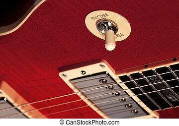 Electric guitar rhythm treble switch