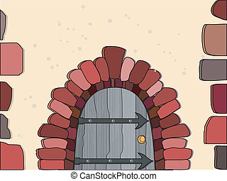 Vector illustration of doors