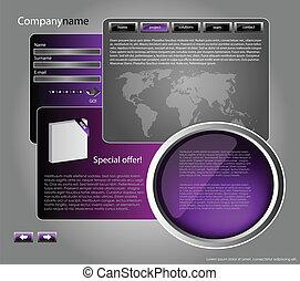Web site design template 46
