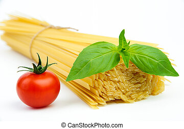 Ingredients for spaghetti