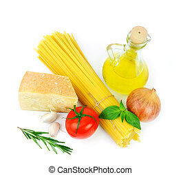 Basic ingredients for italian cousine