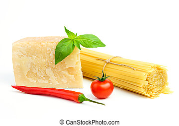 Basic Ingredients for spaghetti