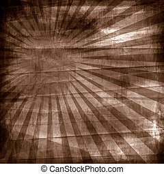 Vintage background - paper with sun rays