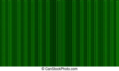 scroll green metal lines panel in space,flowing blinds,web...