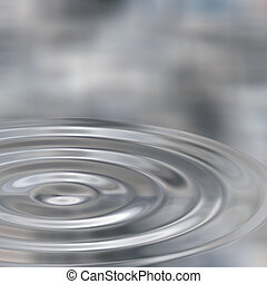 Ripples In Liquid Silver