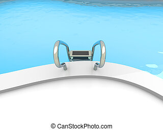 Swimming Pool - A Swimming pool. 3D rendered Illustration....