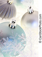 Blue and Silver Christmas Ornaments - Blue and silver...