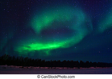 Background showing Northern lights in the sky - Northern...