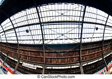 classicistic trainstation in Wiesbaden - trainstation in...
