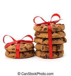 Festive wrapped chocolate pastry biscuits
