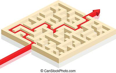 maze with arrow
