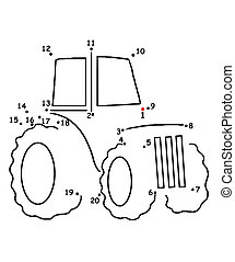 the game of the dots, the tractor