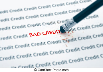 pencil eraser fixing bad credit