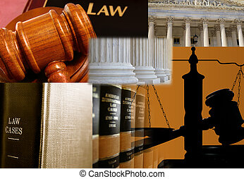 Law books and assorted legal images