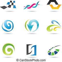 Abstract Shapes 1 - Eps Vector illustration of geometrical...