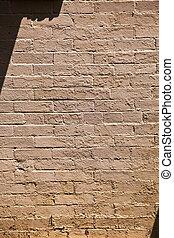antigas, casas, paredes, histórico, tijolo, Estrutura, típico