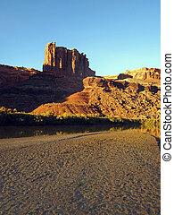 Desert River Sunset