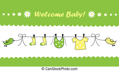 Welcome Baby - Welcome home baby invitation announcement