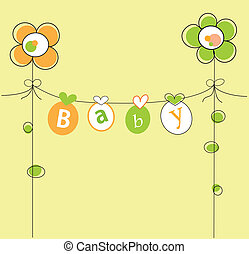Baby Shower - Cute neutral orange and yellow baby shower...