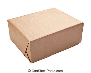 wrapping box container package - close up of a wrapped box...