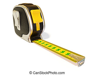 tape measure - creative black tape measure on white...