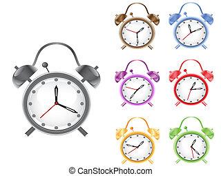 colorful retro alarm clock
