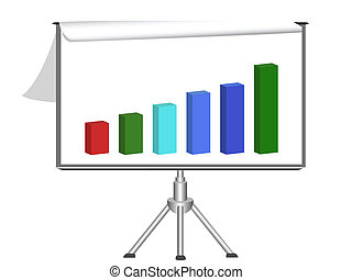 flip chart with diagram - isolated flip chart with diagram...
