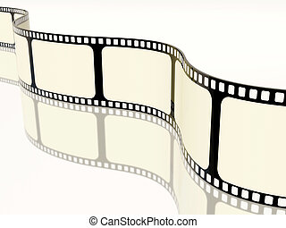 filmstrip reflection on white background