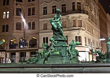 Providentia Fountain in vienna - bronce Providentia Fountain...