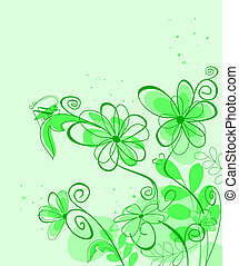 Abstract spring flower background