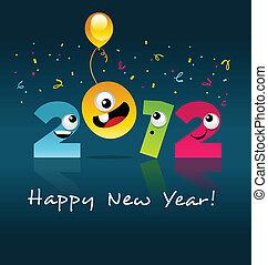 2012 Happy New Year Cartoon