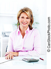 Accountant Business woman. - Accountant business woman at...