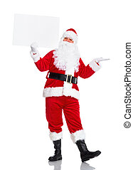 Santa Claus with poster - Happy Santa Claus with christmas...