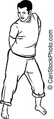 sketch t-shirt and barefoot guy sings - a sketch t-shirt and...