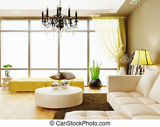 room - modern interior room with nice furniture inside