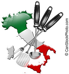 International cuisine made in Italy - Concept of Italian...