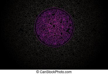 Card ornamental leaf background