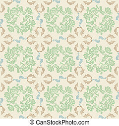 Seamless floral, background pattern