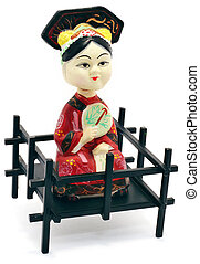statuette - chines statuette on a white background isolated