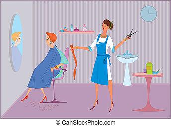 Beauty salon  bad haircut